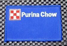 "PURINA CHOW EMBROIDERED SEW ON PATCH LOGO ANIMAL DOG FEED FARM 4"" x 2 1/2"""