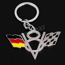 German Flag V8 Logo Car Key Ring Key Chain for Chevrolet Corvette C6 C7 Z06 ZR1