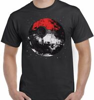 Pokemon and Star Wars Inspired Death star Pokeball Unisex T shirt