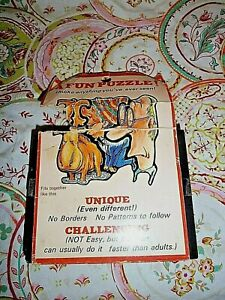 Vintage Cadaco Inc. 'Doodles' Cluster Puzzle, Still Taped Closed, 1960's
