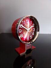 Rhythm clock alarm chrome réveil 80's vintage japan