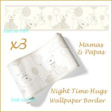 Mamas & Papas Night Time Hugs Baby Nursery Wallpaper Border x 3 NEW