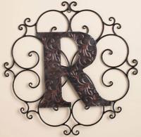 Letter R Wall Hanging Plaque Monogram Living Room Bedroom Home Decorating Idea