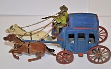 Vintage Stagecoach Johillco toy England antique horse carriage wagon western art