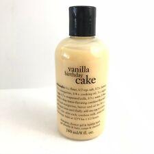 Philosophy Vanilla Birthday Cake Shampoo Shower Gel Bath 8 Fl Oz New