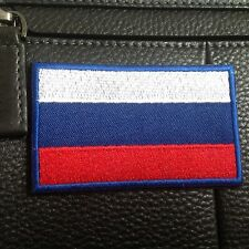 Russia Country Flag Russian FLAG EMBROIDERED HOOK & LOOP PATCH