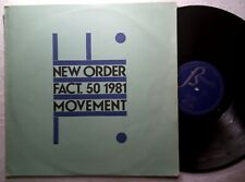 "New Order Movement Spain Vinyl Lp 12 "" 33 Factory / NM 1982"