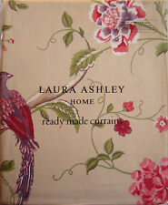 "LAURA ASHLEY - Summer Palace pencil pleat curtains - Cranberry W88"" x L90"" - NEW"