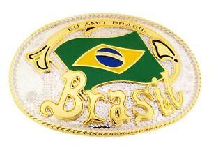 Brasileira Brazilian Brazil Terra do Brasil BELT BUCKLE Cowboy Western  Style