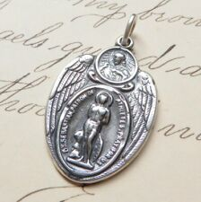 St Sebastian Scapular Medal - Sterling Silver Antique Replica