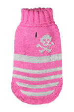 "Hip Doggie Dog Puppy Pink Turtleneck L Skull Sweater L 12"" Long 14""-16"" Chest"