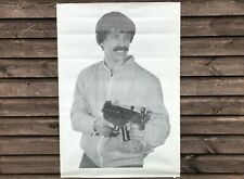 More details for x4 huge vintage czech army sf police 69cm x 98cm mp5k terrorist shooting targets