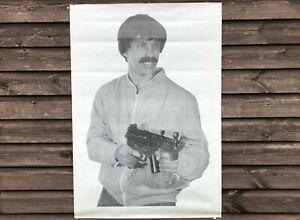 x4 HUGE VINTAGE CZECH ARMY SF POLICE 69cm x 98cm MP5K TERRORIST SHOOTING TARGETS
