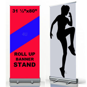 """Retractable Roll Up Banner Stand Trade Show Display 31 ½""""x 80"""" (Stand ONLY)"""