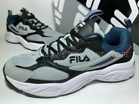 USED FILA Men's Recollector Trail Sneaker Shoes ~ Grey/Black/Blue ~ Various Size