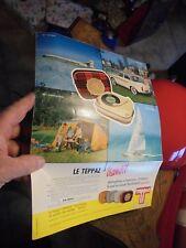 Ancien TEPPAZ sur page Publicitaire : en Avion en Simca P60 au Camping en Bateau
