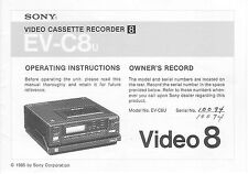 tv video home audio manuals for sony vcr for sale ebay rh ebay com sony video cassette recorder dvd recorder rdr-vx525 manual sony video cassette recorder dvd recorder rdr-vx515 manual