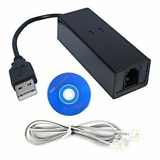USB 56K External Dial Up Voice V.90 V.92 Fax Data Modem Window 7 Win 10 8 XP