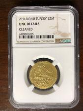 TURKEY-SELIM III-GOLD ZERI MAHBUB-1807(1203/8)-KM#522 NGC-UNS