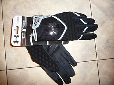 New UNDER ARMOUR Lacrosse Gloves woman XL NEW heatgear $30 black padded
