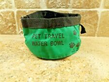 Pet Dog Travel Water Bowl Collapsible Canvas Portable Food Dish