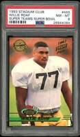 Willie Roaf Rookie Card 1993 Stadium Club Super Teams Super Bowl #469 PSA 8