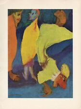 """1959 Vintage EMIL NOLDE """"TRIO"""" FANTASTIC COLOR Offset Lithograph"""