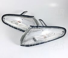CHROME w/ CLEAR LENS CORNER LIGHT PAIR SET FOR MITSUBISHI ECLIPSE 1992-1994