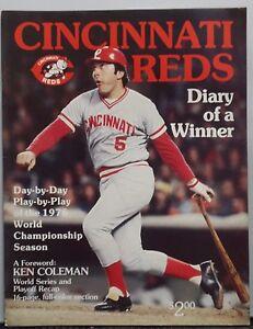 "Cincinnati Reds 1976 Official MLB Baseball Yearbook Program ""Diary Of A Winner"""