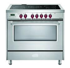 "Verona Designer Vdfsee365Ss 36"" Electric Range Oven Stainless Burgundy Knobs"
