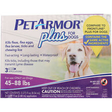 PETARMOR - Plus for Dogs Flea and Tick Squeeze-On 45-88 Lbs. - 3 Applications