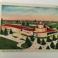 VTG 1939 New York World's Fair Postcard Cosmetic Building Q1
