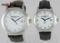 2 Watches Raymond Weil Tradition Steel Quartz Women and Men 5376M 5576M