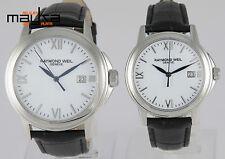 2 Watches Raymond Weil Tradition Steel Quartz Women and Men 5376m 5576m