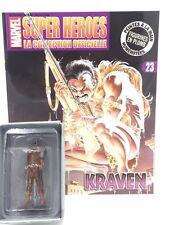 Marvel Figurine Plomb Eaglemoss Kraven N23 + fascicule et boite [Etat Neuf]