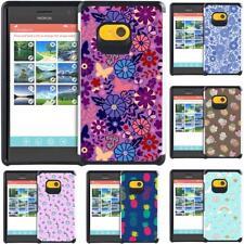 For Nokia Lumia 730 Lumia 735 Slim Hybrid Case Cover Flower Unicorn Pastel Color
