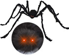 6.5ft Halloween Hairy Spider Outdoor Decor Light-up LED Eyes Scary Giant Spider