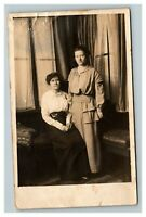 Vintage 1914 RPPC Postcard Portland Oregon Sisters Portrait - Names on Back