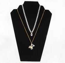 Four Black Velvet Necklace Pendant Easel Display Stands Stand Displays