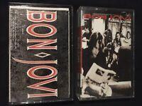 Bon Jovi 2 Cassette Lot 80s Hair Metal Pop Rock