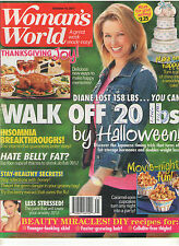 WOMAN'S WORLD OCT 2011 WALK OFF 20 LBS INSOMNIA HATE BELLY FAT? BEAUTY MIRACLES