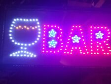 """Neon☆Animated Led Bar Club Sign Open Light Bar Store Shop Display Board 19""""X10"""""""