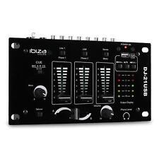 IBIZA 3/2-KANAL USB Mp3 MIXER PA TALKOVER MISCHPULT NEU