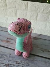 """6"""" Shinny Purple & Pink Dino Plush Stuffed Animal Way To Celebrate Dinosaur"""