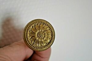 Gros bouton, poignée en laiton massif porte placard tiroir commode coffret