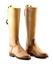 Handmade Two Tone Brown Elegant Dressage Horse Riding Tall Boot UK 5-12