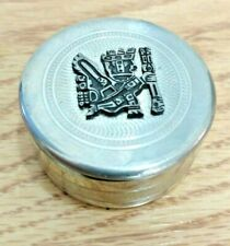 Pewter Box Warrior Velvet Lining Lid SN 93% Bolivia Trinket Jewelry Container