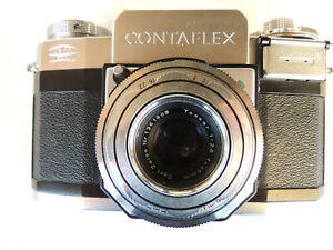 ZEISS IKON CONTAFLEX mit Objektiv Tessar 1:2,8 45mm inkl. Tasche