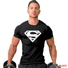 Men Collection Superman Sport Gym T-Shirt Bodybuilding Fittness Cotton Shirt