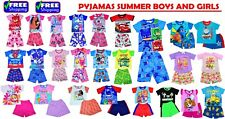 NEW SIZE 1-12 KIDS PYJAMAS SUMMER BOYS GIRLS PAW PATROL MOANA PJ MASK SLEEPWEAR